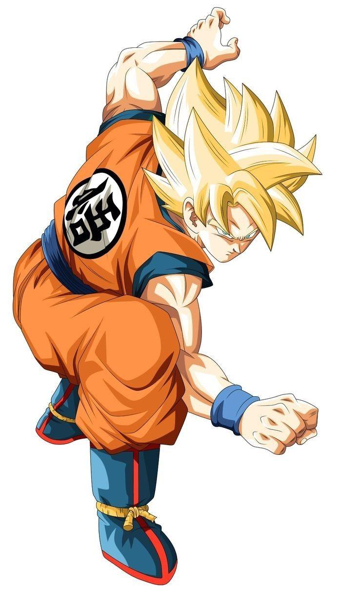 La Clasica Pose De Pelea De Goku Personajes De Goku Personajes De Dragon Ball Dibujo De Goku
