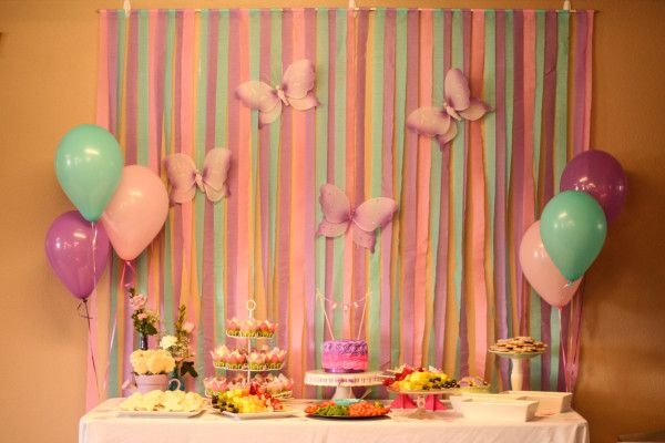 Butterfly First Birthday Party
