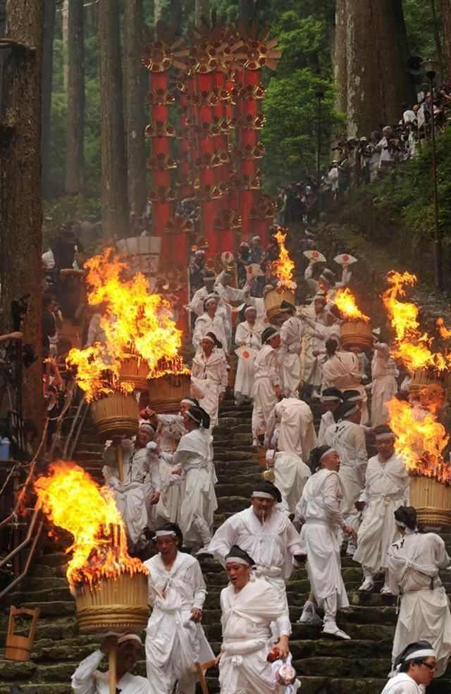 Nachi Fire Festival in Wakayama, Japan