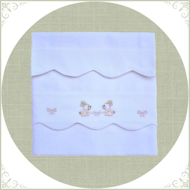 crib sheet w pillow hand made embrodery