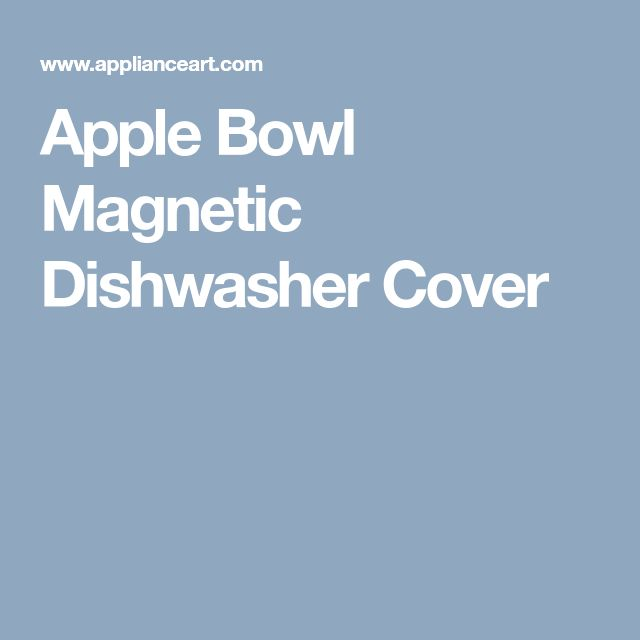 Apple Bowl Magnetic Dishwasher Cover
