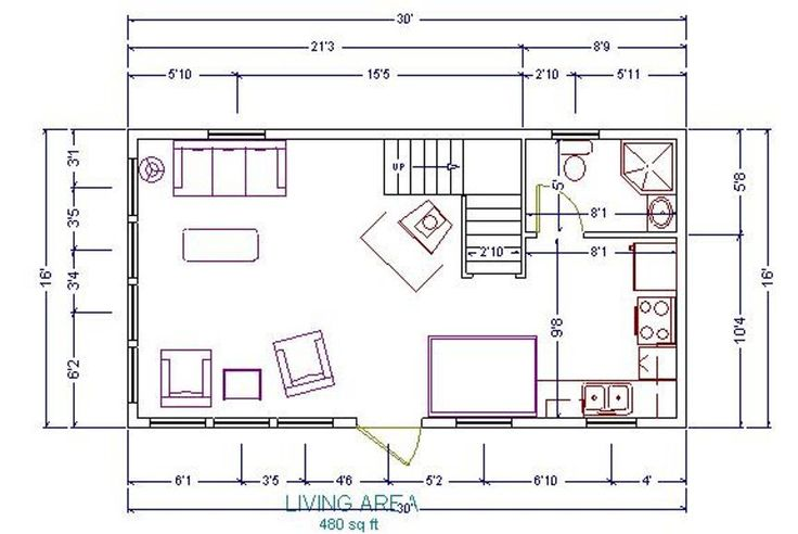 16x24 Cabin Floor Plans Re 20x34 1 5 Story In Ashe
