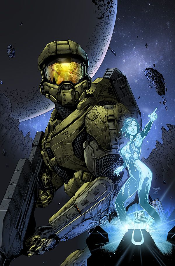 Master Chief & Cortana - Halo - Daniel Picciotto