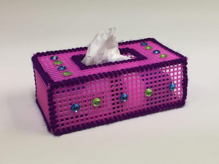 Plastic Canvas Tissue Holder