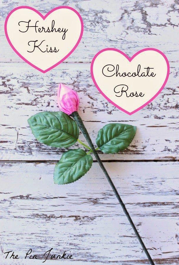 Hershey's Kiss Chocolate Rose
