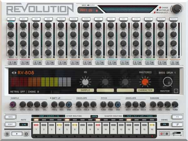 Revolution KONTAKT-0TH3Rside, kontakt samples-audio, TR 909, Revolution, OB-DX, Linndrum, Kontakt, Drumulator, Drumtraks, CR-78, 808, 707, 606, 0TH3Rside