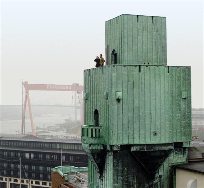 Utsikt från Kvarnens torn. Magasinet etapp 1, Eriksberg, Göteborg