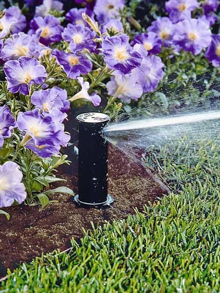 As much as we love fiddling with plumbing fittings, this sprinkler kit removes the guesswork from designing your own system, giving you everything you need—and nothing you don't—to water a lawn of up to 3,000 square feet. | Automatic Sprinkler System, by @rainbirdstore