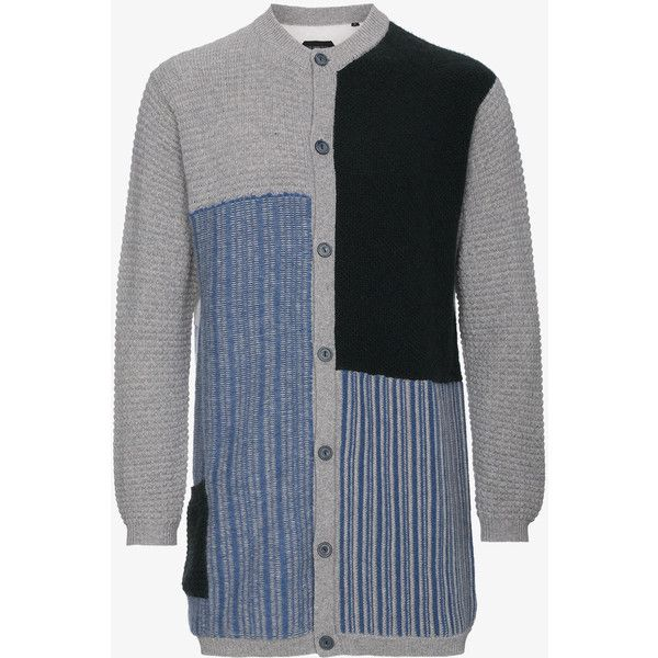 Curieux Cashmere Multi Fabric Cardigan ($1,590) ❤ liked on Polyvore featuring men's fashion, men's clothing, men's sweaters, multicolour, mens long sleeve polo sweater, mens cashmere sweaters, mens cashmere cardigan sweater, mens cardigan sweaters and mens colorful sweaters