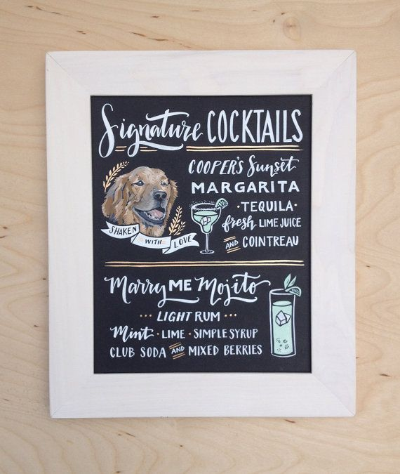 They Love Each Other: 17 Best Ideas About Signature Drink Signs On Pinterest