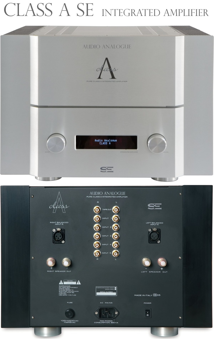 Audio Analogue Class A Integrated Amplifier SE (£9,190). This Audio Analogue is a splendidly rounded performer, sonically. It's fantastic, if you can cope with the size, weight and heat For  Brilliant sonic all-rounder excellent refinement and punch fine timing  Read more at http://www.whathifi.com/audio-analogue/class-integrated-amplifier-se/review#bjwxRpR6mG8TzeJE.99