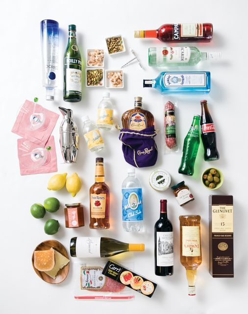 A visual guide to stock your bar via Atlanta Homes and Lifestyle #yoursouthernpeach