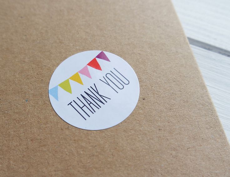 24 Thank You Stickers Rainbow Bunting Birthday Wedding Envelope Seals Labels 40mm / 208 by Azmari on Etsy https://www.etsy.com/listing/228014637/24-thank-you-stickers-rainbow-bunting