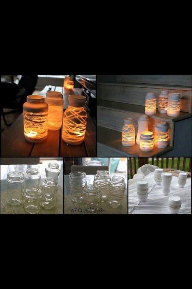 Zelfgemaakte lantaarns