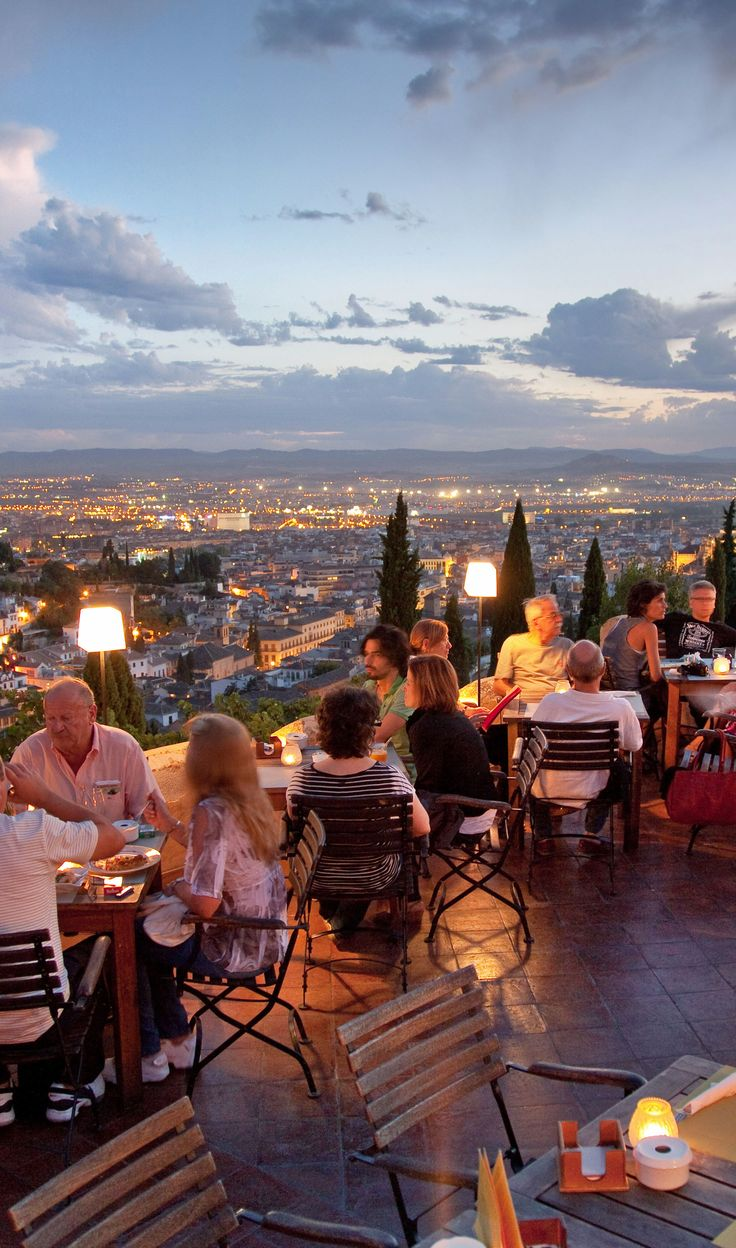 Enjoy a sunset view of the Alhambra on Day 8 of the Rick Steves Best of Spain Tour.