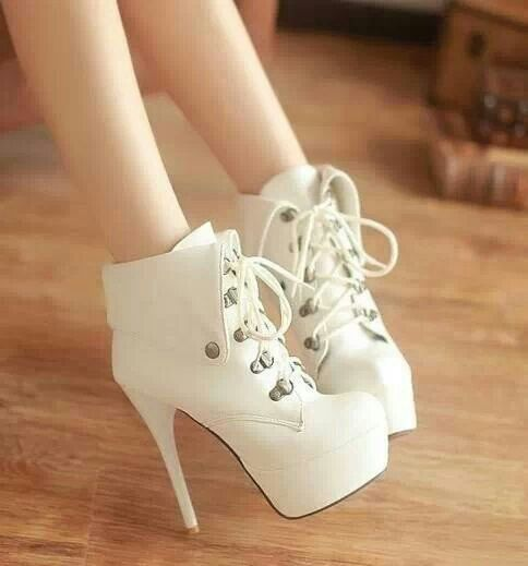 White booties.