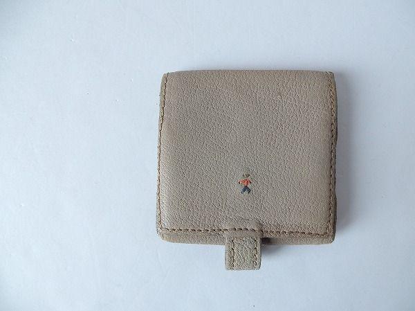 HENRY BEGUELIN エンリーベグリン オミノ刺繍レザー三つ折り財布