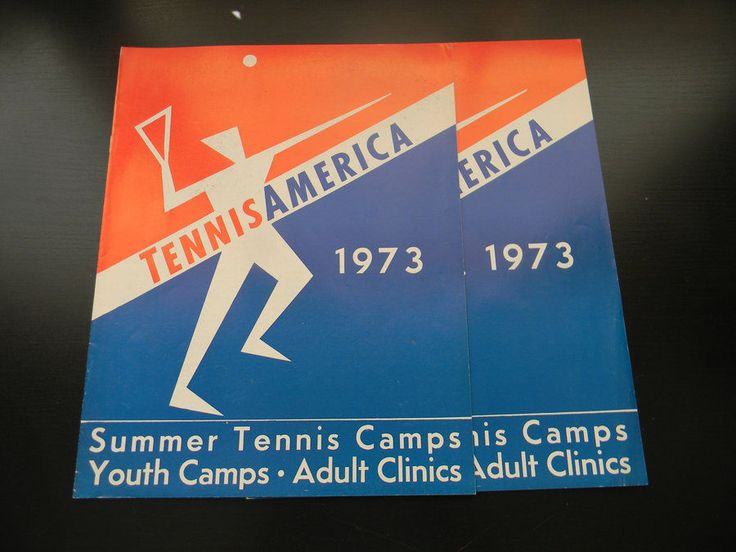 Lot 2 Tennis America 1973 Program Booklet Magazine Summer Tennis Youth Camps