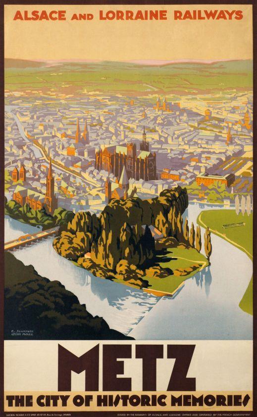 Metz, chemins de fer d'Alsace et Lorraine.