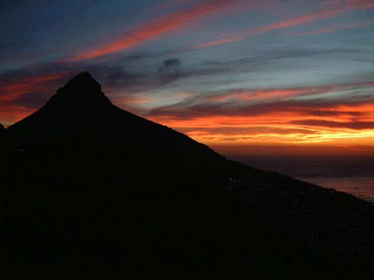 Cape Town Sunset with Lions Head