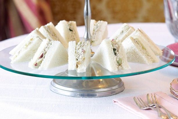 Give the classic American waldorf salad a tea-party twist - add chicken and serve it in dainty triangular sandwiches.