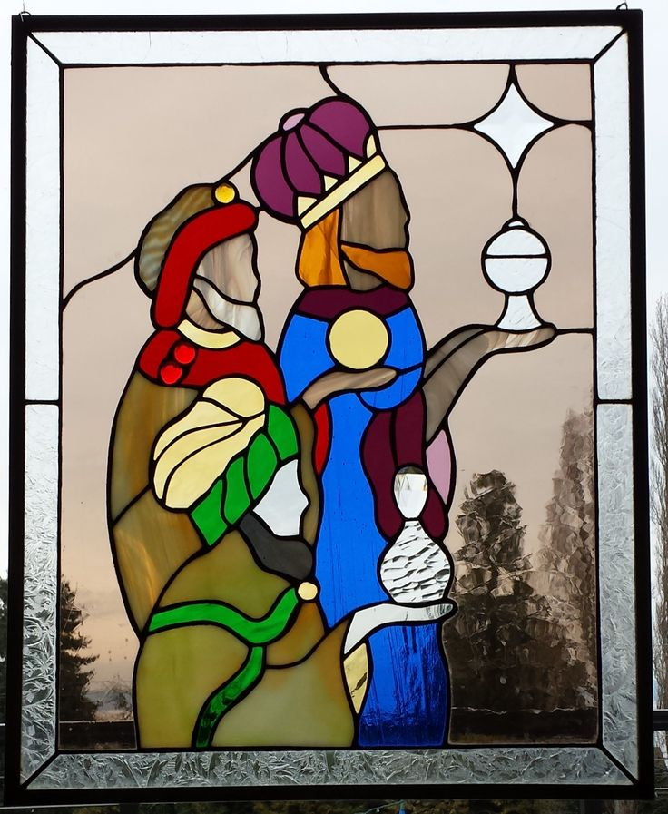 Christmas Stained Glass Windows Craft
