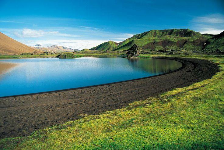 il lago Frostastaðavatn che si incontra alle spalle del Landamannlaugar.