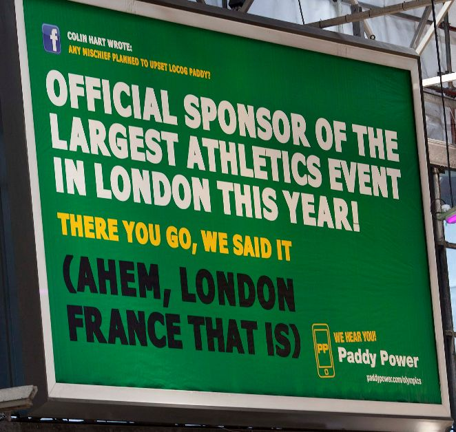 Paddy Power - Olympics Sponsors