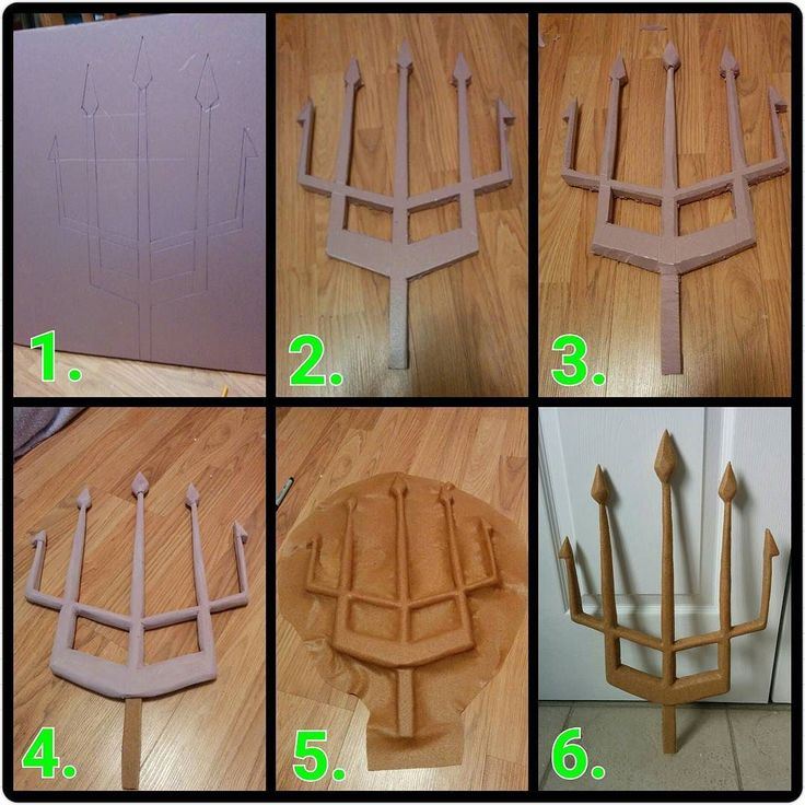 Here's how to make a weapon from insulation foam and Worbla! 1. Draw out your pattern on the foam. 2. Cut out with an exacto knife. 3. Add dimension by cutting off edges. 4. Sand smooth with sand paper. 5. Sandwich in Worbla and make contact between the two sheets at the edges of your prop. 6. Trim the excess Worbla and smooth out seams with a modelling tool. Be careful not to apply too much heat to insulation foam or it will melt! #cosplay #cosplaywip #cosplaytutorial #worbla #howto…