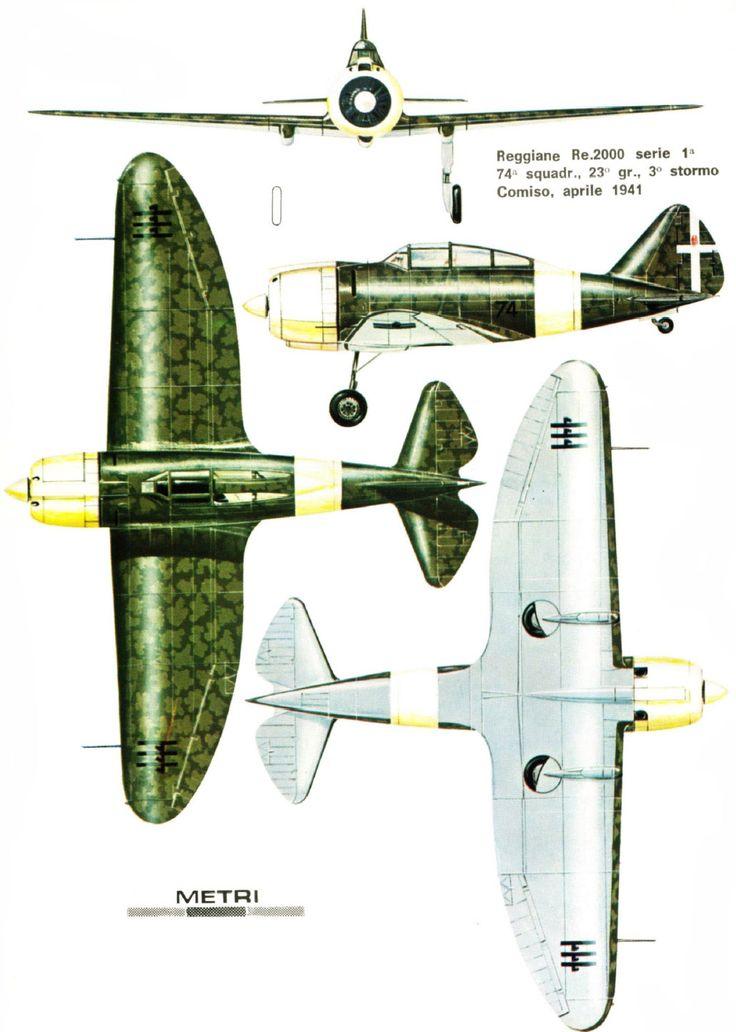 Reggiane Re.2000 - 74a Squadriglia. 23° Gruppo, 3° Stormo Regia Areonautica 1941