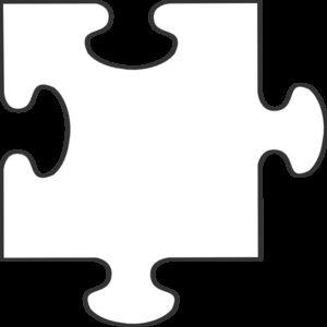White Puzzle Piece Clip Art