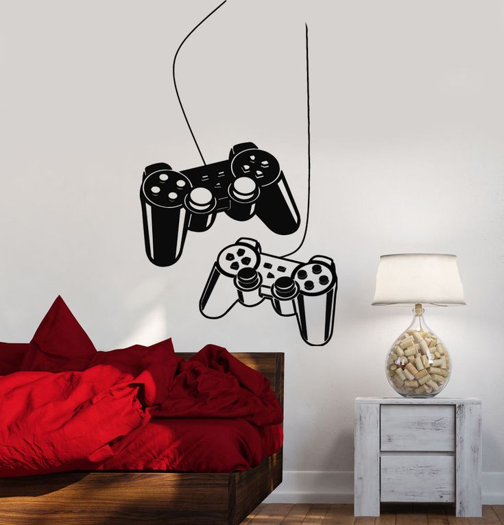 Details about Joystick Wall Decal Gamer Video Game Play Room Kids Vinyl Stickers Art (ig2532)