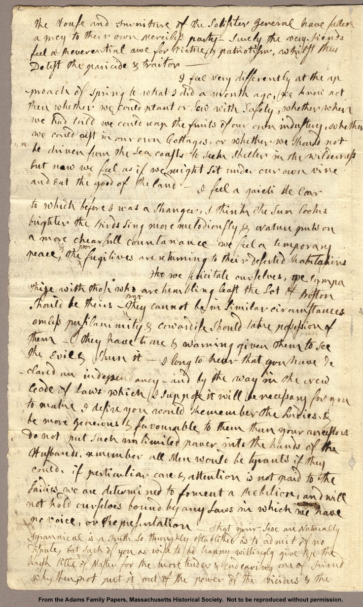 85 best john adams images on pinterest john adams abigail adams adams family papers letter from abigail adams to john adams 31 march 5 fandeluxe Image collections