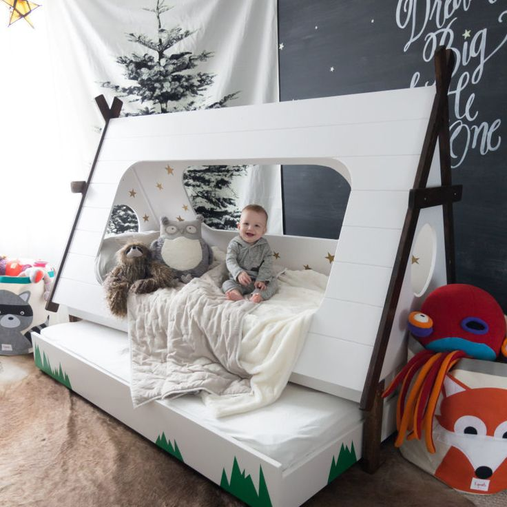 One crafty mom transforms her son  39 s ordinary bed into an adorable camp themed place to snooze in this must see DIY