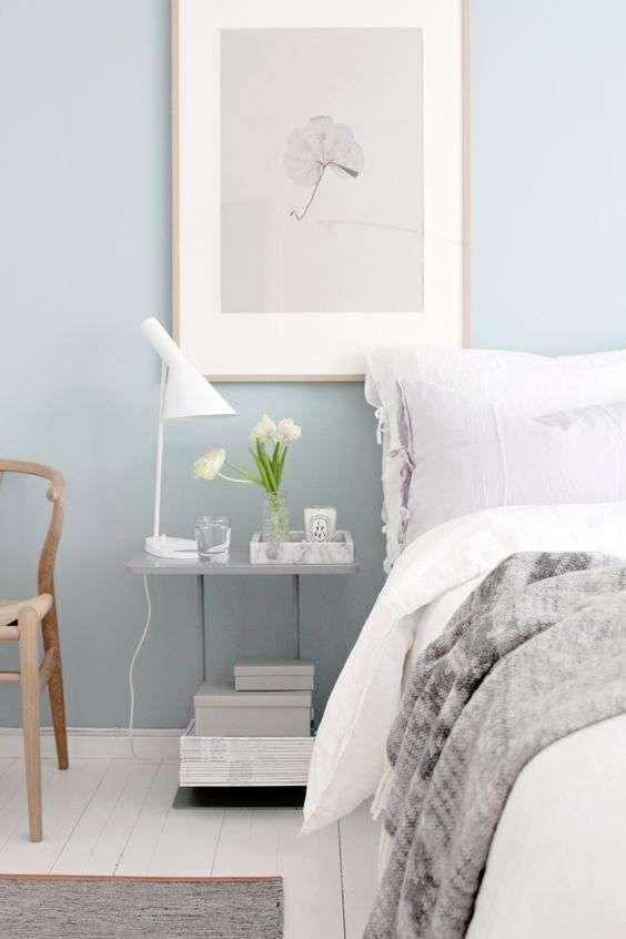 Arredare la camera da letto con i colori pastello - Camera celeste