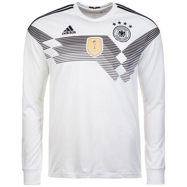 Adidas Performance Fussballtrikot Dfb Langarm Trikot Wm 2018 Heim Online Kaufen Trikot Fussball Und Rautenmuster