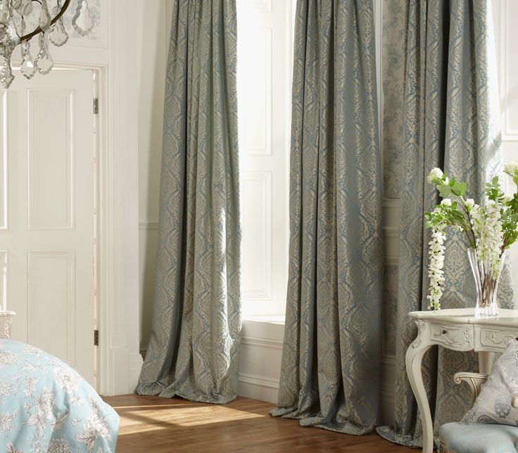 iLiv Auvergne Curtains - With a Jacquard design the Auvergne curtains are a favourite for adding a demure look to a living space. Auvergne curtains are a timeless and classic design that never fails to impress in any colour option. The curtain fabric details a shimmer to the embroidered jacquard design, giving the curtains a feel of luxury and elegance. This Auvergne curtain fabric is available in three different chic colour-ways; Charcoal, Eau De Nil and Ivory!