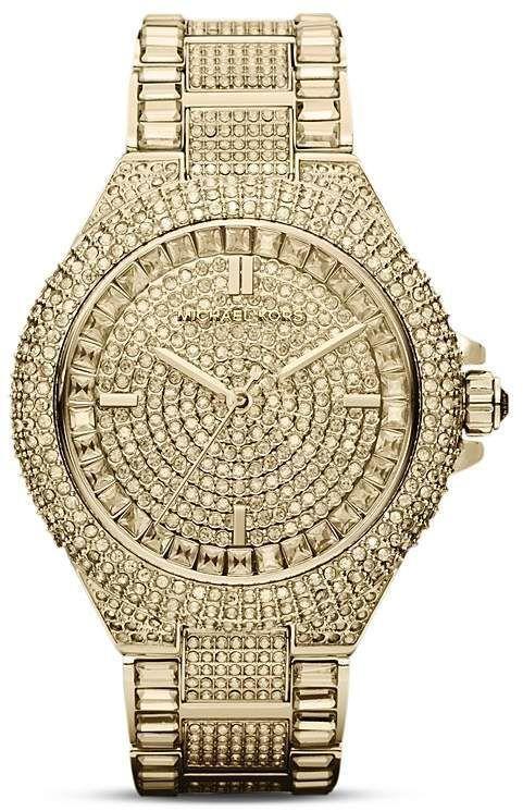 Michael Kors Camille Watch, 44mm #Woodenwatchesformen #menswatchesminimalist