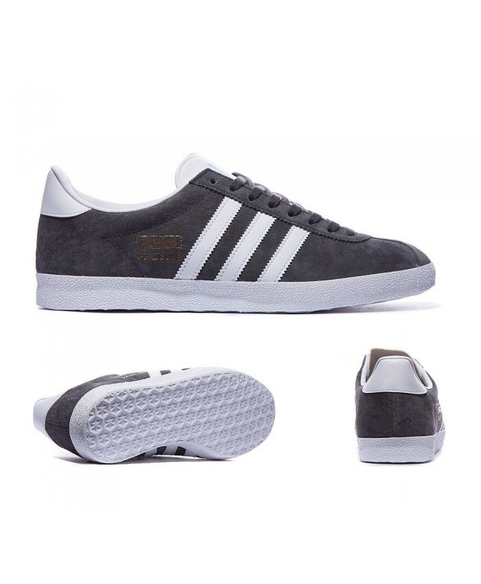 free shipping 0b658 57fd0 Adidas Originals Gazelle Og Solid Grey And White Trainers Sale UK