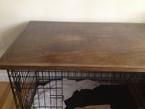 Great Wood Top For Dog Crate Cover