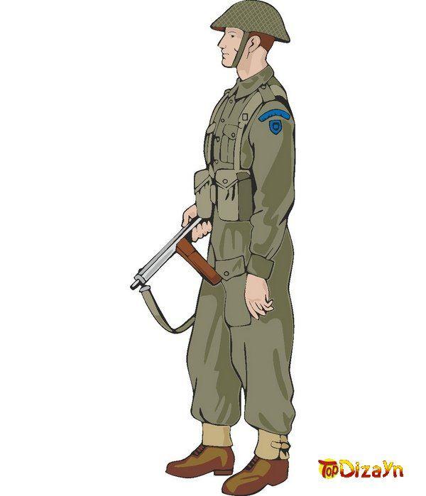 Солдаты и офицеры времен Второй Мировой Войны (вектор) | Wojna