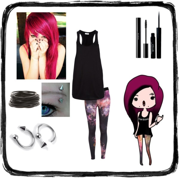 """""""Hardcore girl 2 ?!?"""" by evelyn-edlr ❤ liked on Polyvore"""