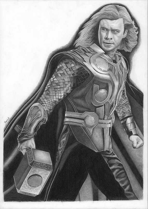 Check out this item in my Etsy shop https://www.etsy.com/uk/listing/523239543/a3-original-pencil-drawing-of-thor  #Thor #avengers #avengersassemble #drawing #art #artwork #armour #hammer #Greek #god #character #marvel #geek #nerd #comic
