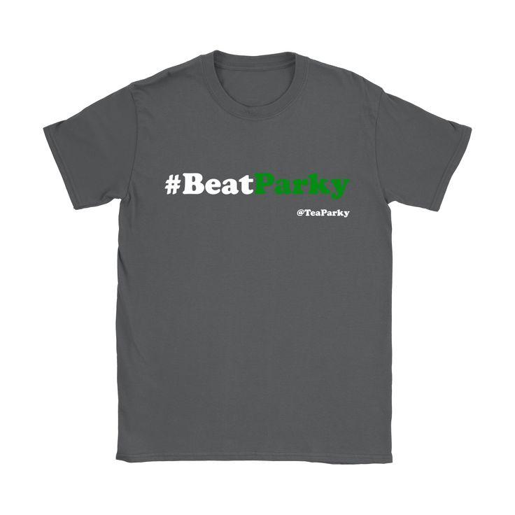 #BeatParky Womens Short Sleeve T-Shirt (White/Green Font)