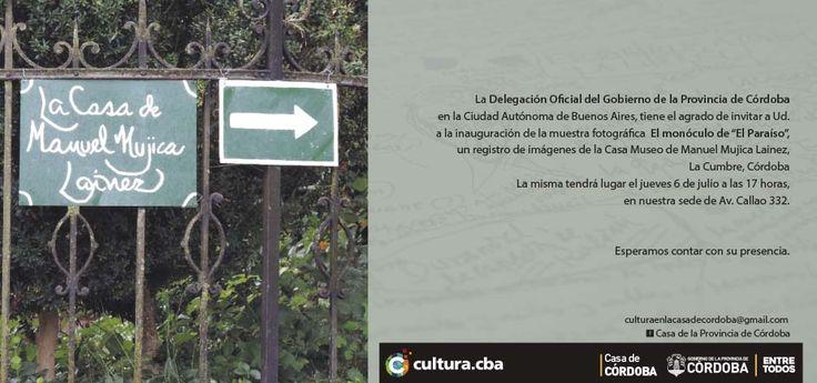 """La Casa de Córdoba en Buenos Aires inaugura mañana a las 17 """"El monóculo de la Casa"""", mi muestra fotográfica sobre la Casa Museo de Mujica Laínez, Callao 332, hasta el 4 de agosto. Para encontrarse con los detalles desapercibidos del lugar en el mundo de don Manuel Mujica. El monóculo es el estilo y la observación. Tiene la capacidad de agrandar el detalle o centrar la mirada. Dejar descubir lo no visto. Apreciar con holgura y silencio. Asomarse al pasado viendo el presente. En él hay que…"""