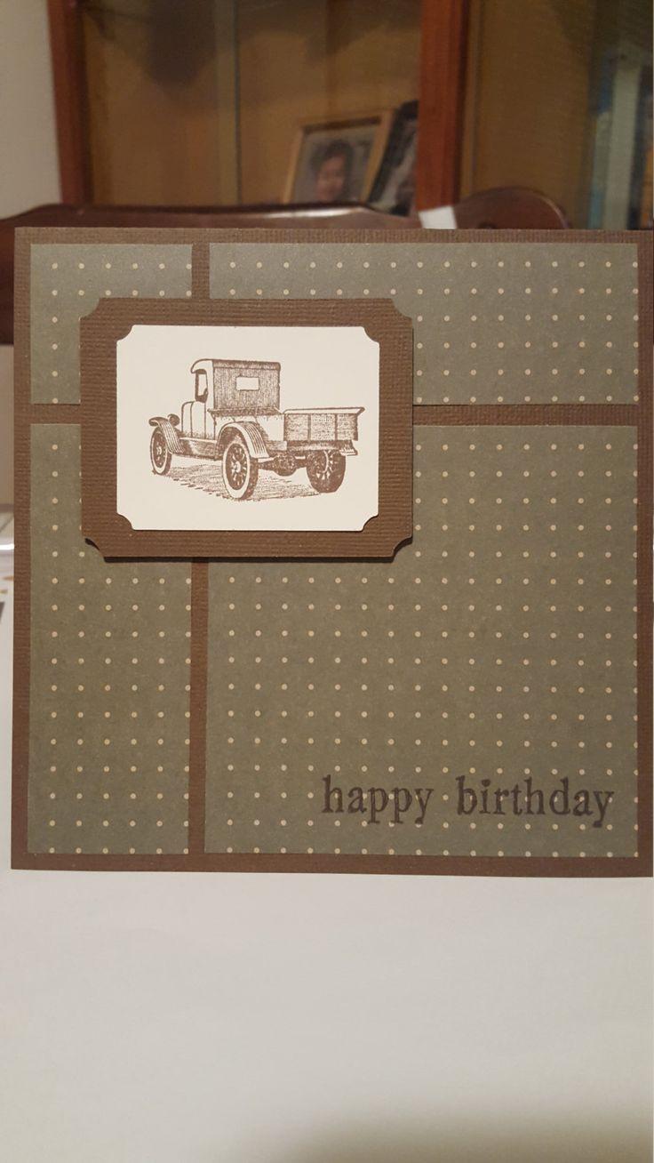 Keep on Trucking Masculine Birthday Card by SimoneSaysCardShop on Etsy