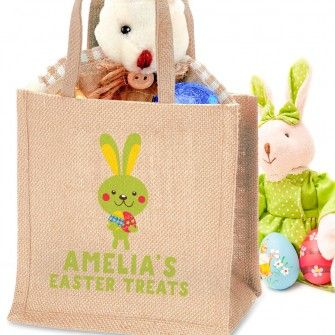 212 best easter gifts images on pinterest easter gift money box personalised easter chick jute bag can be customised with any message fast uk delivery negle Choice Image