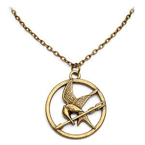 We will feature another Hunger Games merchandise – a mockingjay necklace. To let the world know that you are a fan of the Hunger Games, scream it out loud by wearing this Mockingjay Necklace. $19.99 #THG #HungerGames #TheHungerGames