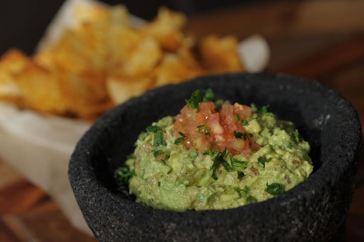Rocco's Tacos Guacamole ---Ingredients:    2 whole avocados  1 tbsp. Roasted green poblano chiles, Peeled Seeded and chopped  1 tsp.Jalapeno diced (or to your taste)  1 tbsp. minced red onion  1 tbsp. chopped cilantro  1 tsp. salt  ¼ of one lime  2 tbsp. freshly chopped tomatoes