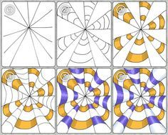Mrs. Artwork - glimpses of my art education: Op Art - Part 1: Cones
